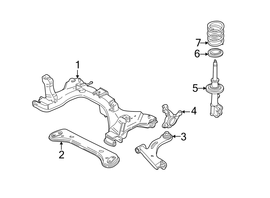 2004 Ford Escape Engine Cradle  Escape  Mariner  To 12  15