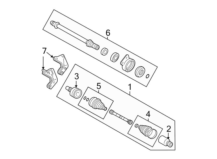 2006 Ford Escape Cv Intermediate Shaft  Trans  Manual  Liter
