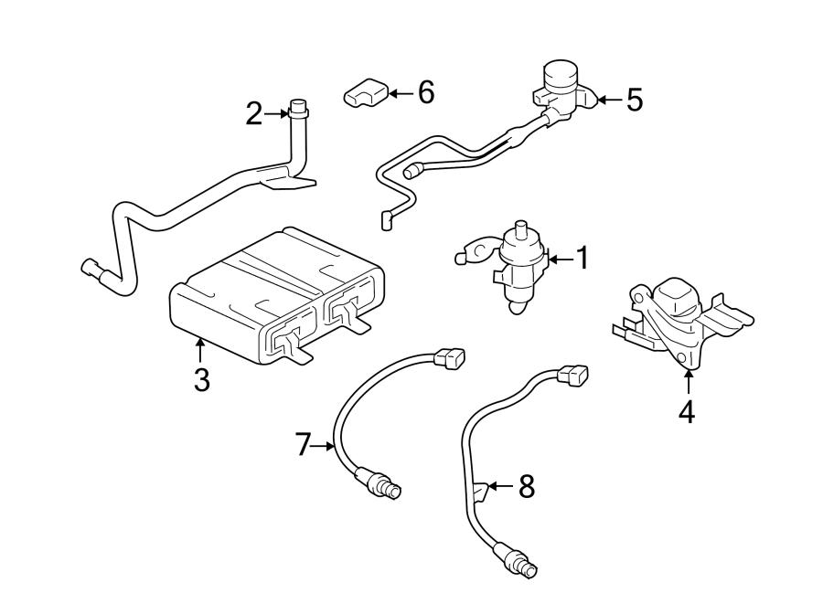 Ford Escape Oxygen Sensor  Front  Rear  Upper  Lower