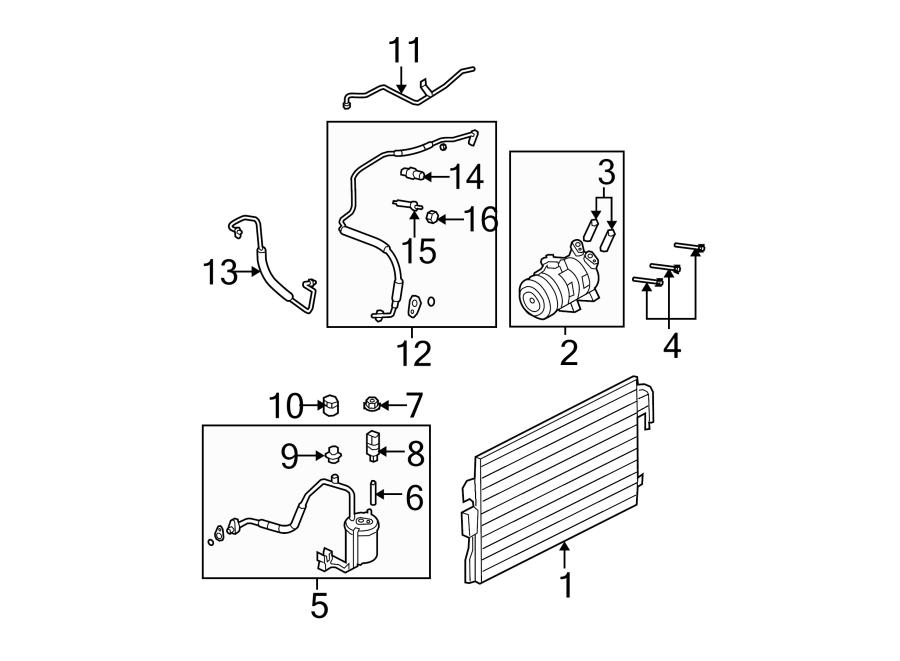 Ford Escape Refrigerant  Line  Air  Discharge  Conditioning  Liter  Comp  Condenser