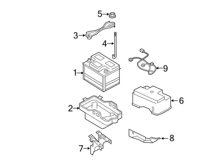 ford escape vehicle battery
