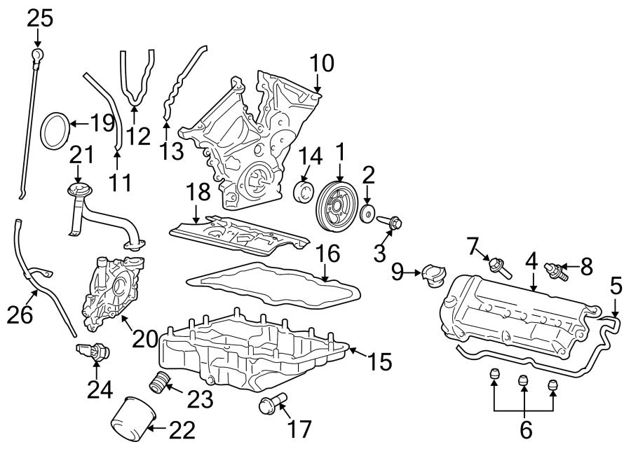Ford Escape Valve  Cover  Engine  Grommet  Bolt  3 0 Liter