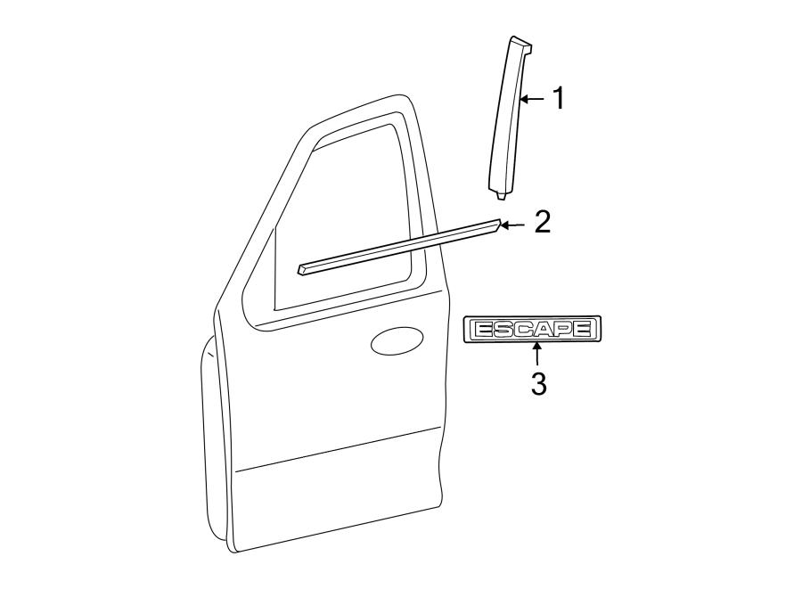 2010 Ford Escape W U0026 39 Strip  Belt  Door