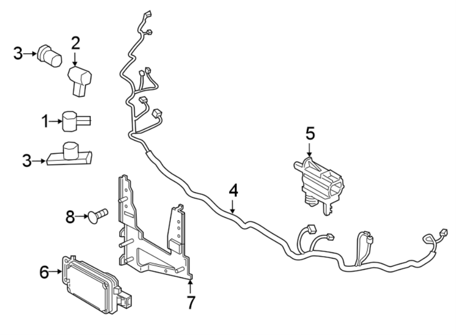 2017 ford escape parking aid system wiring harness  2017