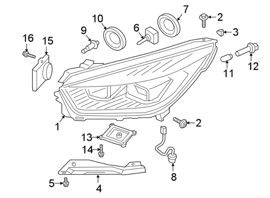 Ford Escape Headlamp  Housing  Body  Headlight  Lamp