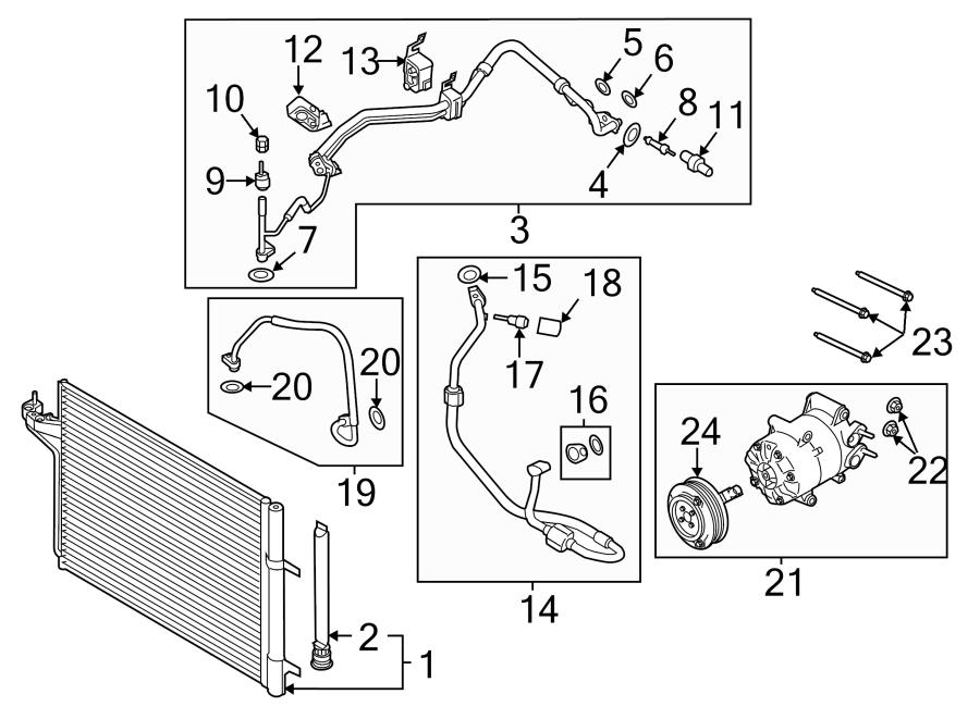 2014 Ford Escape A  C Refrigerant Suction Hose