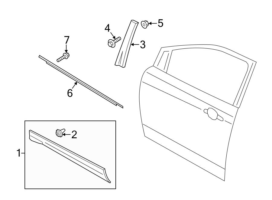 2014 ford escape molding door body side cladding. Black Bedroom Furniture Sets. Home Design Ideas