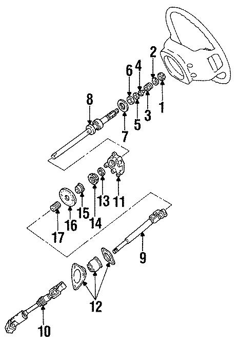 Ford Aerostar Steering Shaft   Lower   1992 O Tilt