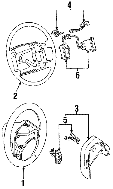 Ford Aerostar Steering Wheel  4 Spoke  Leather  Trim