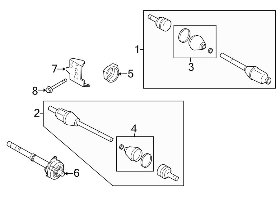 2012 ford escape inner shaft  intermediate shaft  incl cv axle shaft carrier bearing