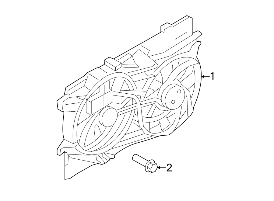 ford edge engine cooling fan assembly  tempspeed