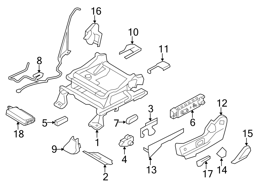 2011 ford edge seat motor side driver power. Black Bedroom Furniture Sets. Home Design Ideas