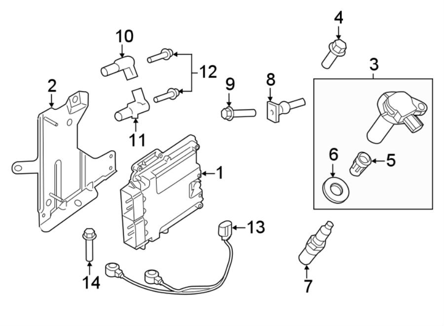 2016 ford edge direct ignition coil  liter  non