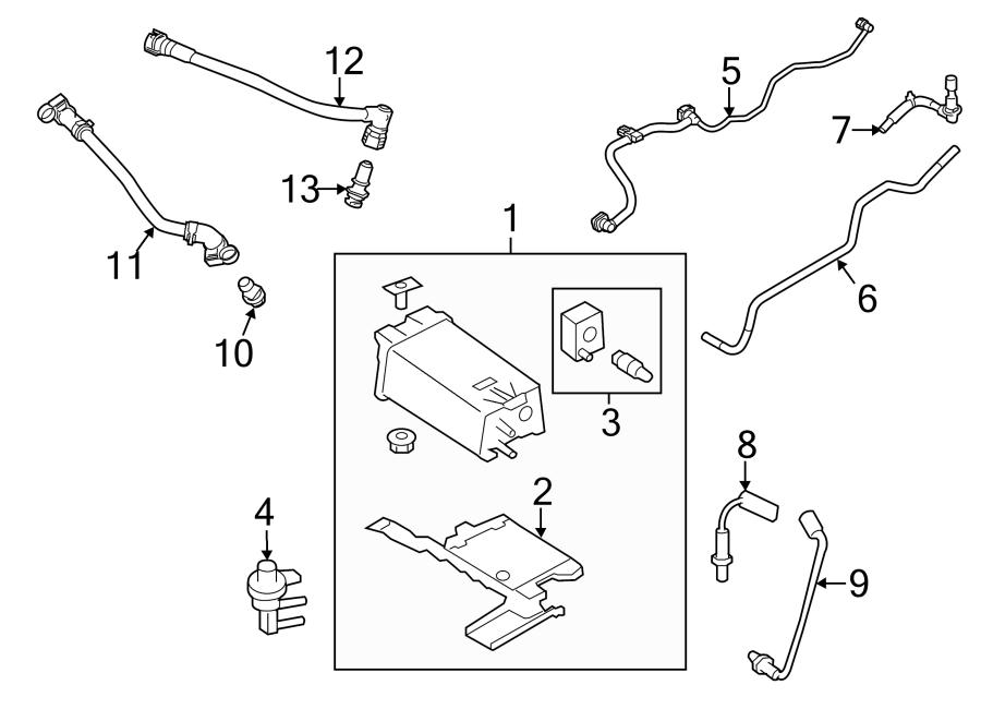 2014 Ford Flex Valve  Purge  Solenoid