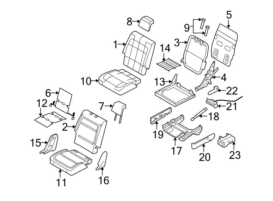 ford flex handle  seat  bucket seats  black  back  adjust
