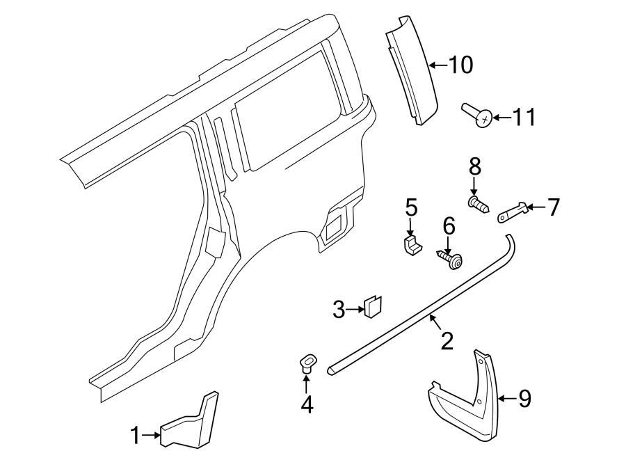 2012 ford fusion belt molding retainer screw  bumper cover mount bolt  bumper screw  fender