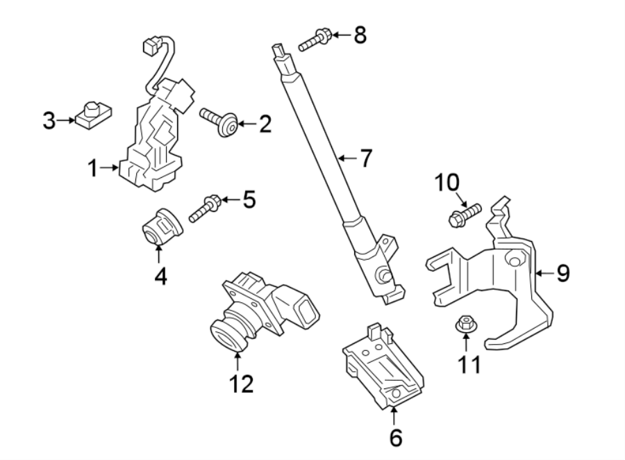 2014 Ford Flex Tailgate Pull Down Motor  Actuator  Drive