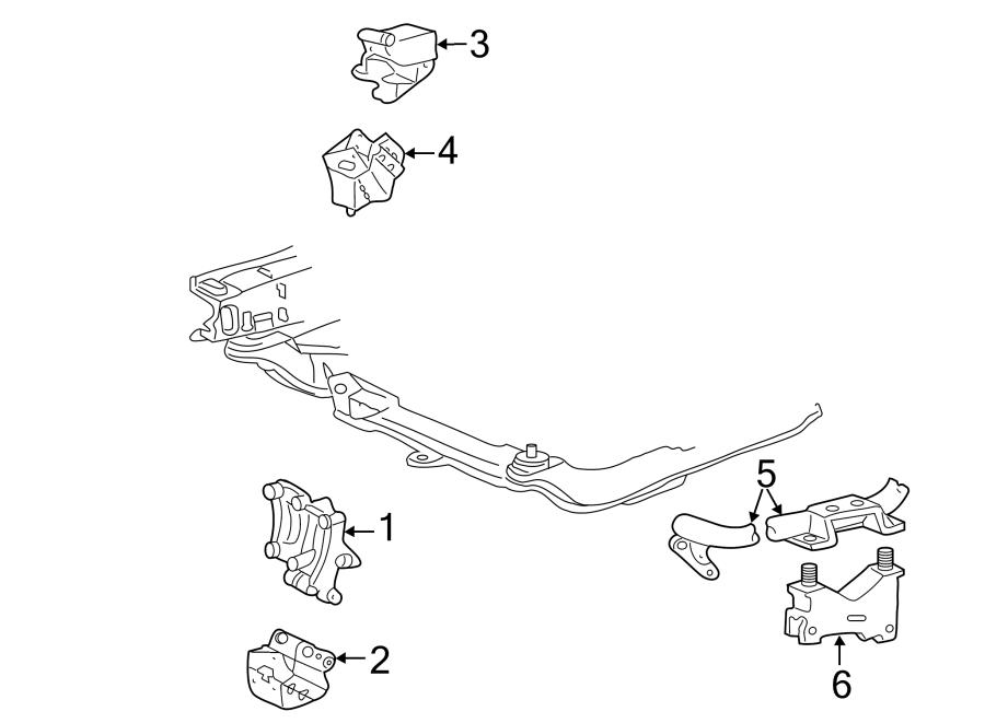 Ford Taurus Mount Insulator  Transmission Mount Bracket