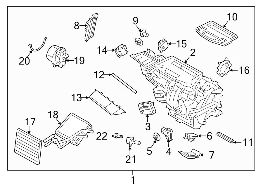 Ford Fiesta Hvac Unit Case Cover  2014-19