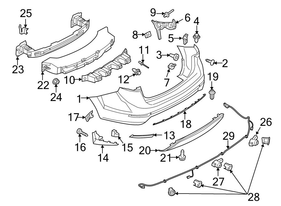 Ford Fiesta Parking Aid Sensor Bracket  Rear   Sedan  2014