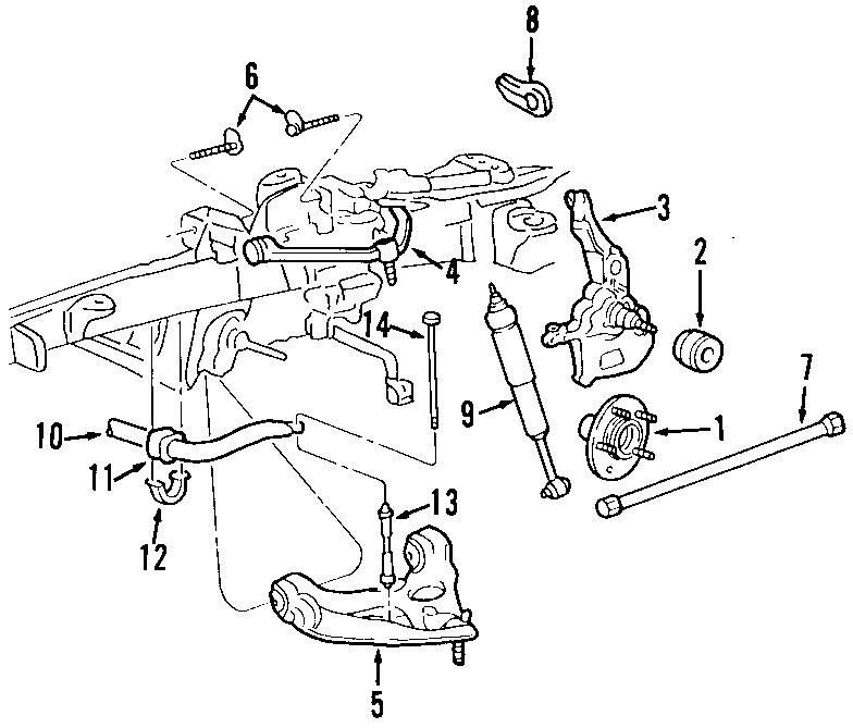 1999 Ford Ranger Locking Hub  Front   Suspension  Drive  Brake
