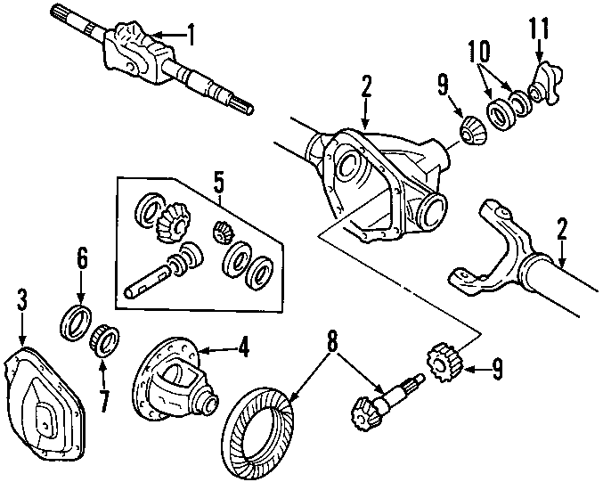 5c3z4a376fa - ford shaft assembly