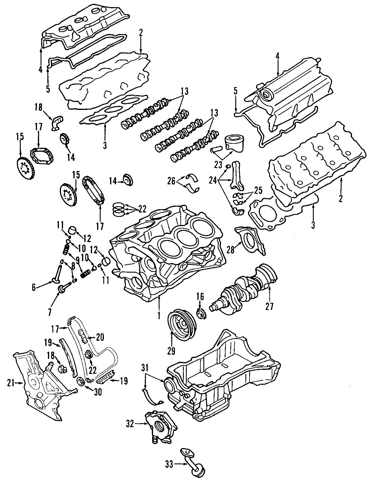 2008 Ford Edge Engine Oil Pan  Liter  Bearings  Valves