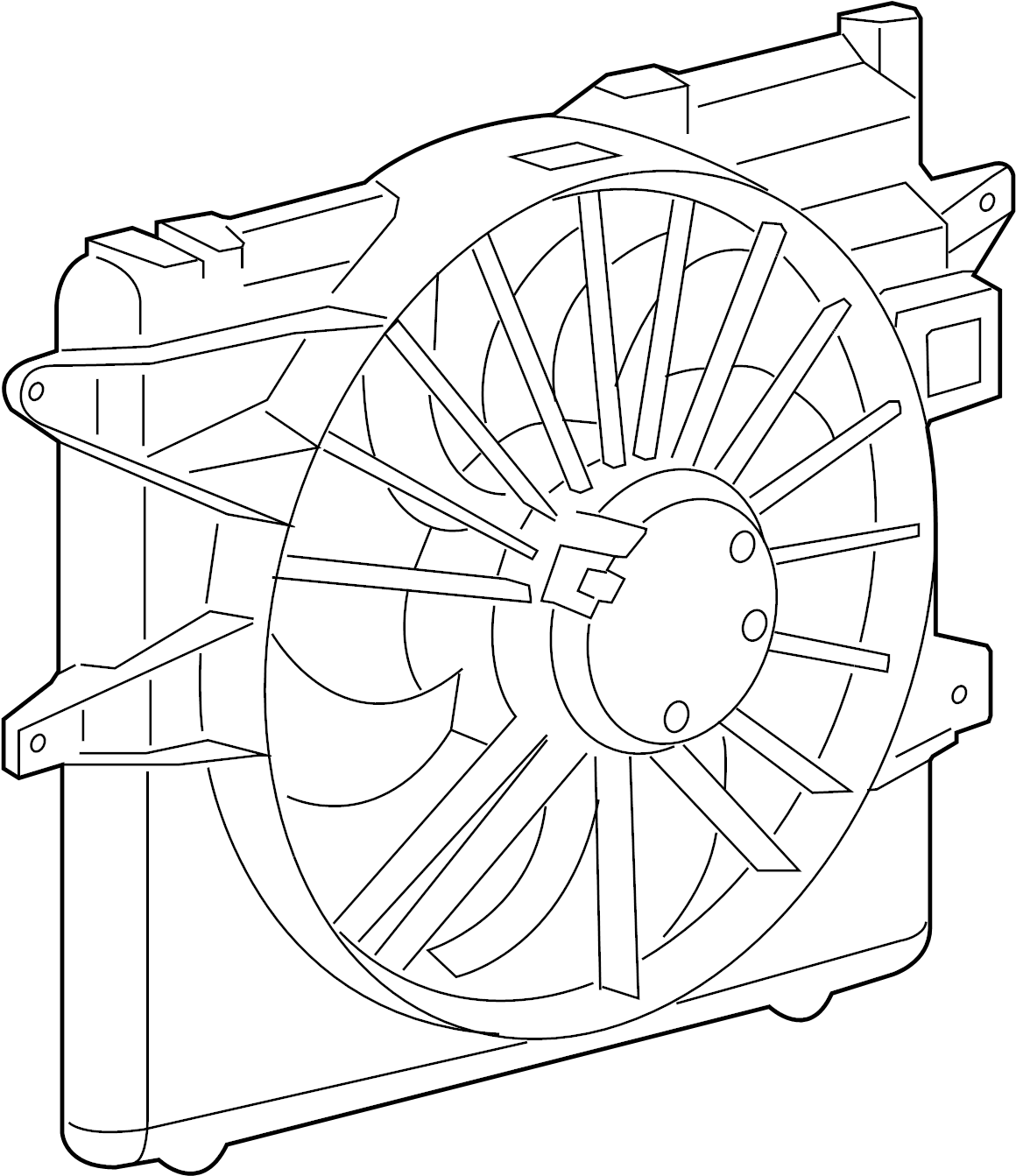 2014 ford mustang fan assy  fan module  motor and fan asy