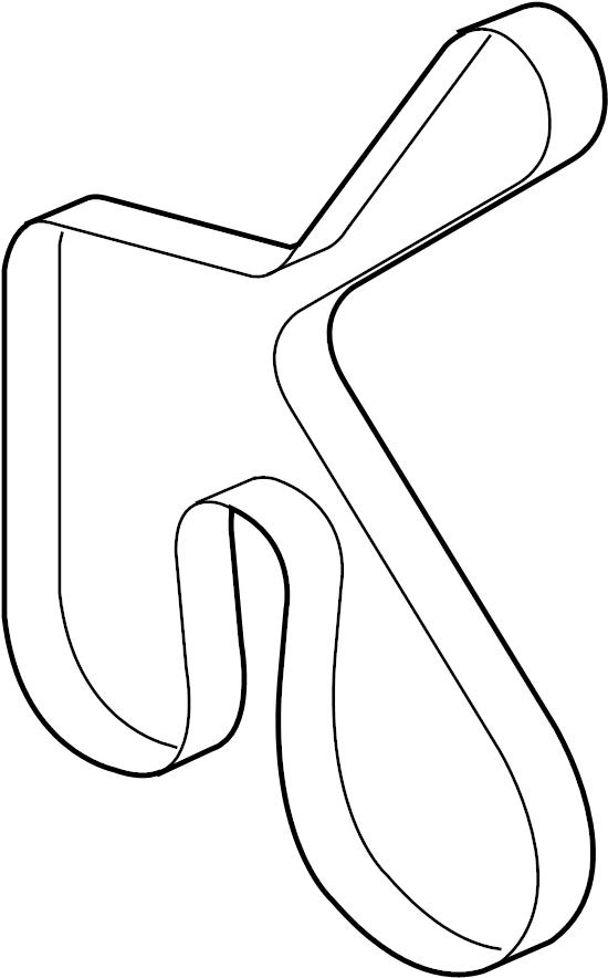 7r3z8620a - ford ac belt  drive belt  serpentine belt  v