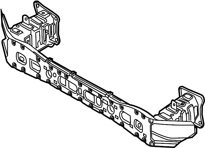 ford focus bumper impact bar  w  o rs  w  ecoboost pkg  w  o