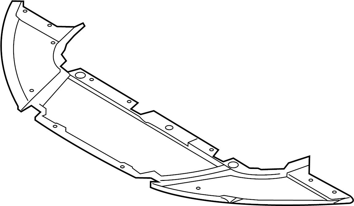 Ford Focus Radiator Support Splash Shield  Front  Lower