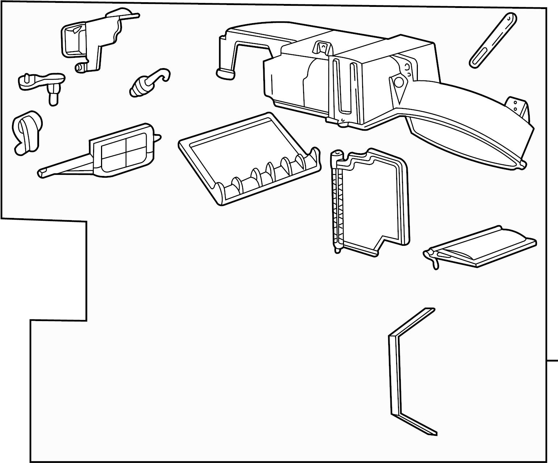 2f1z19850da  c  evaporator core  housing assembly  hvac unit case