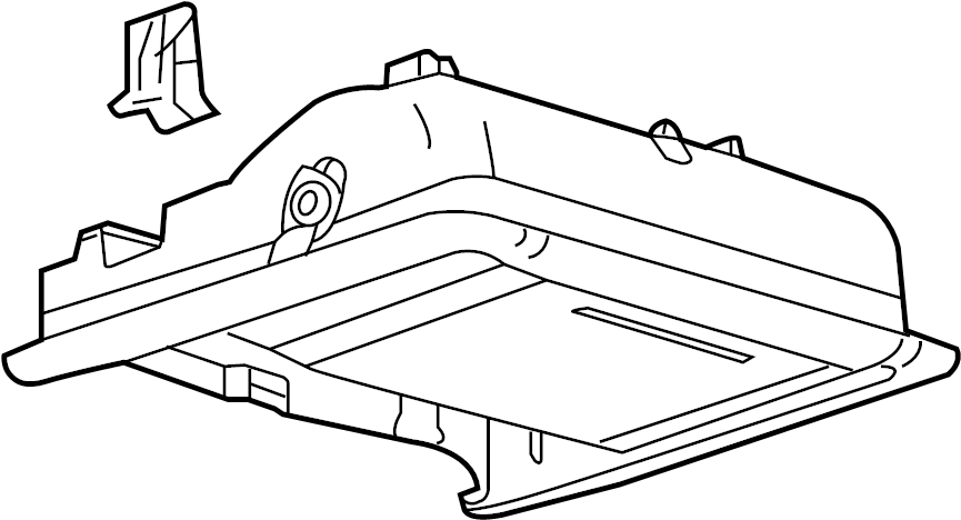 ford explorer console  overhead  assembly - overhe  base  housing  shelf