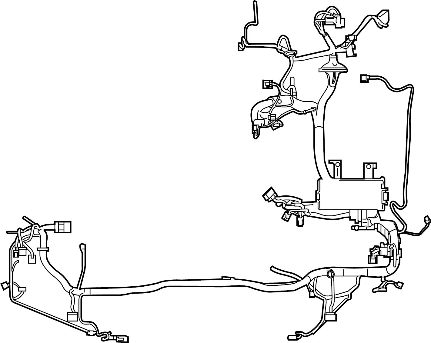 ford fusion wire harness  wiring assembly  engine