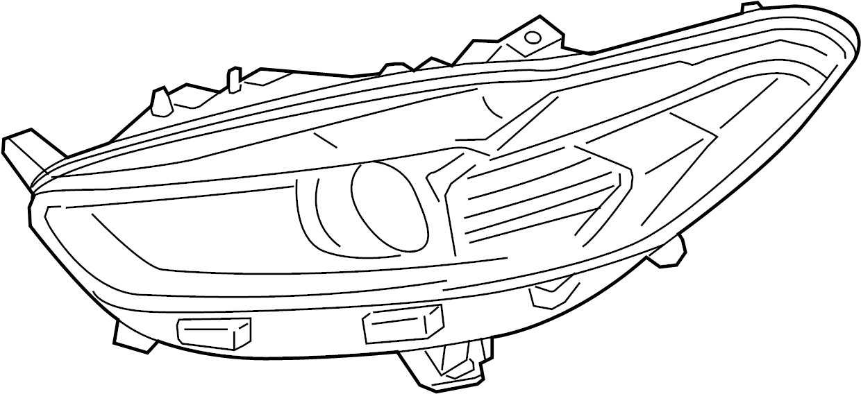 2014 ford fusion composite assembly  headlamp assembly