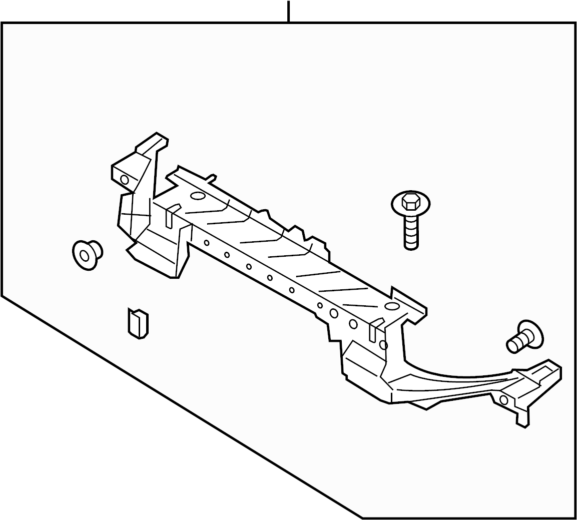 ford fusion bumper diagram