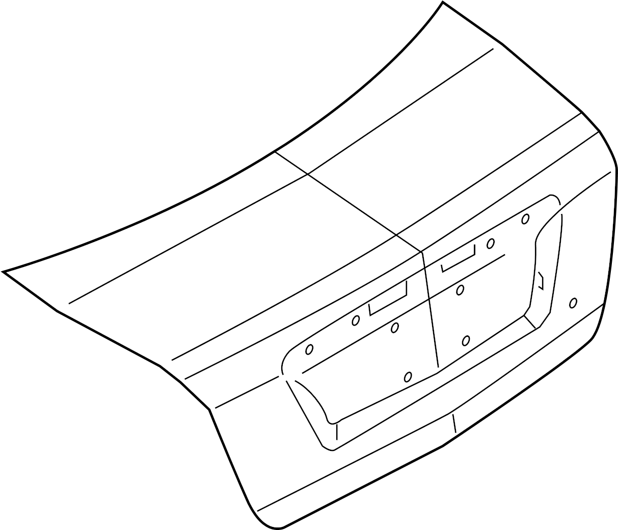 ford fusion lid  trunk  luggage  door  assembly