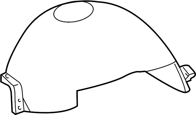 ford f-150 liner  shield  fender  splash  front  left  inner
