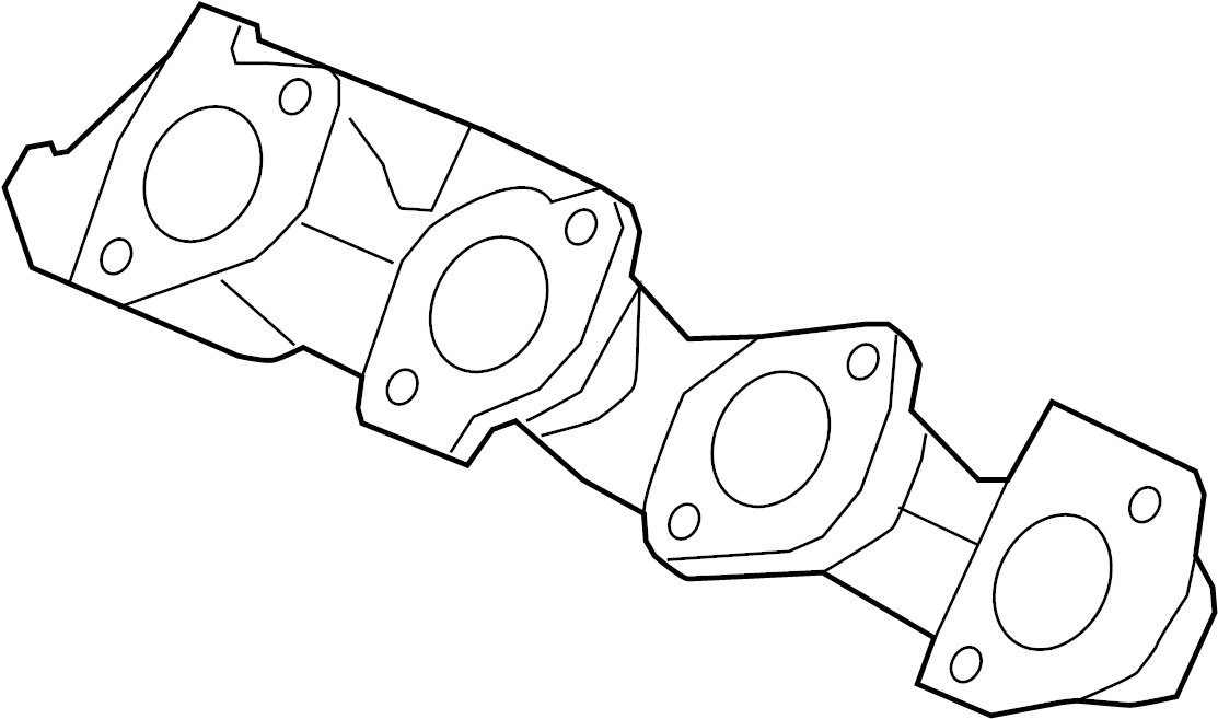 9l3z9430e ford exhaust manifold liter  windsor  valve