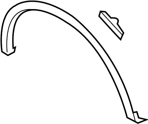 Fl3z9929164ba Ford Wheel Arch Molding Front Box Body