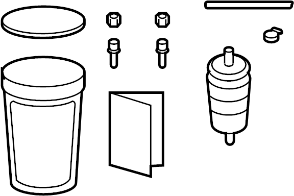 xc3z7b155f - ford filter assembly  kit