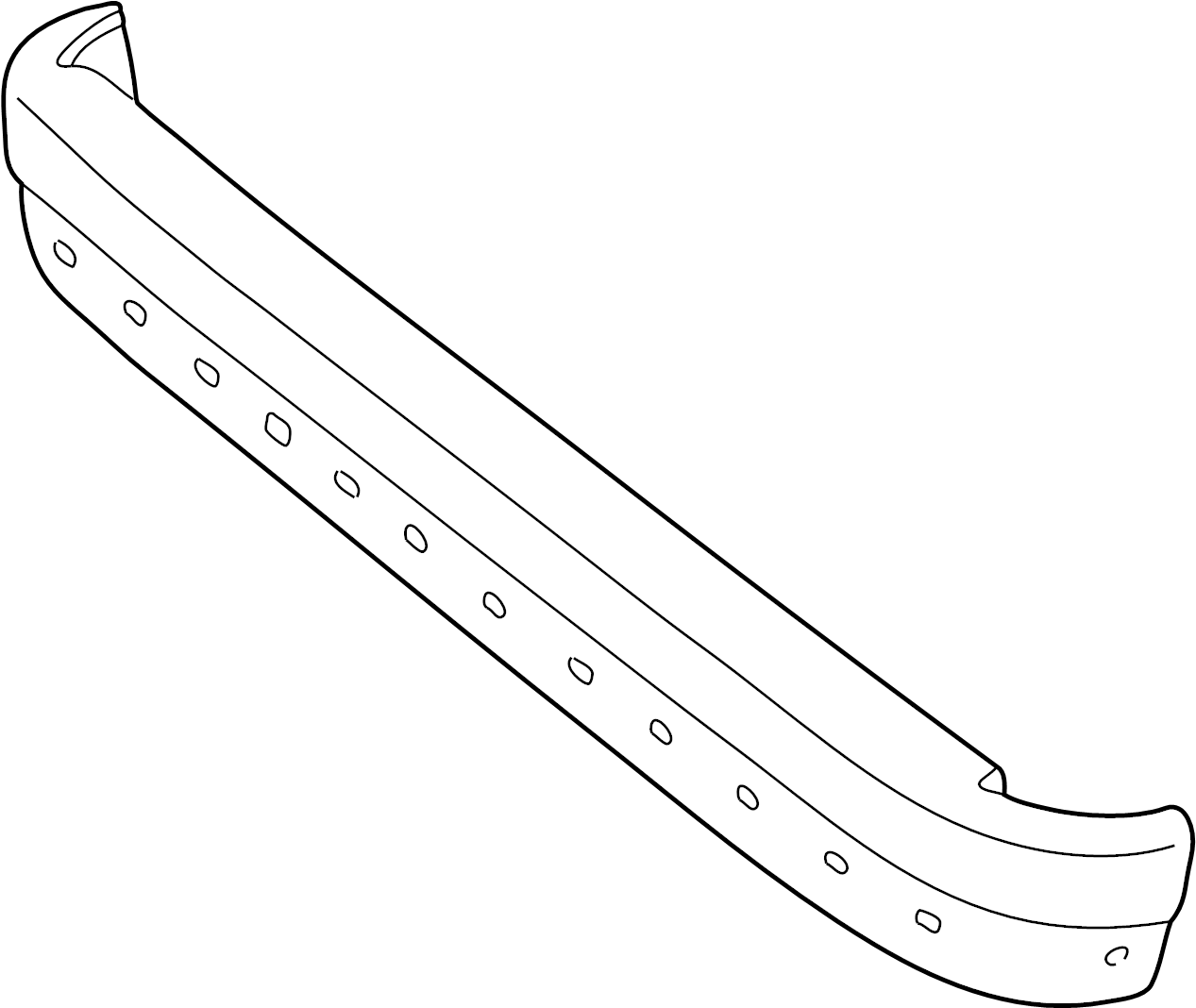 7c2z17906f - ford bumper  face  bar  assembly