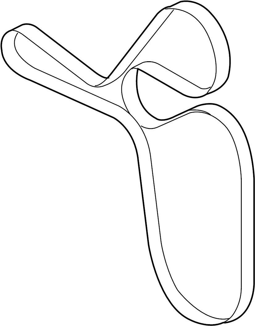 ac3z8620b - ford drive belt  serpentine belt  v