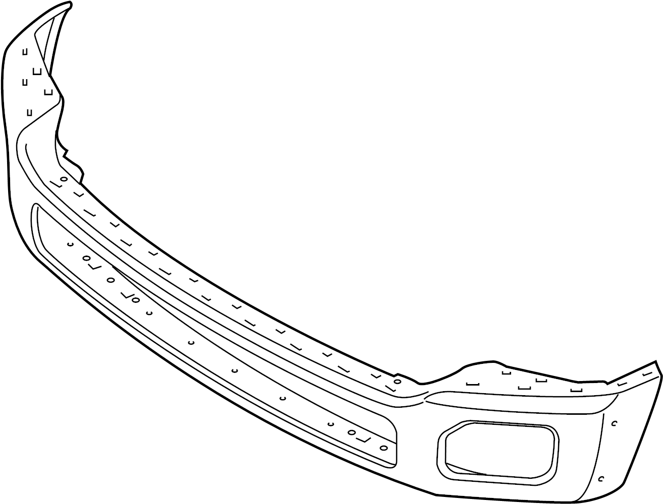 ford f-250 super duty bumper assembly
