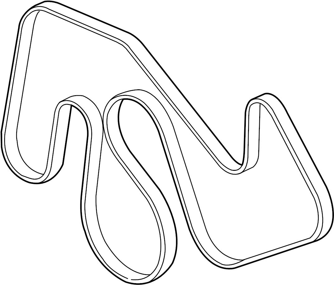 cc3z8620a - ford serpentine belt  v