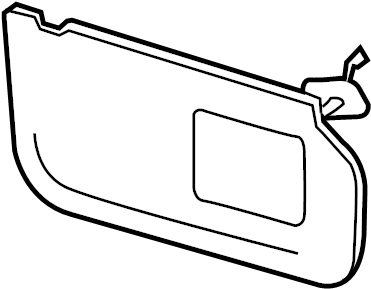 sun visor diagram with Bc3z2504105fc on 85305 3W300 also Replace Windshield Wiper Motor also Honda Accord Rear Quarter Panel in addition BC3Z2504105FC together with T17906002 Fuse diagram mercedes 2004 clk500.