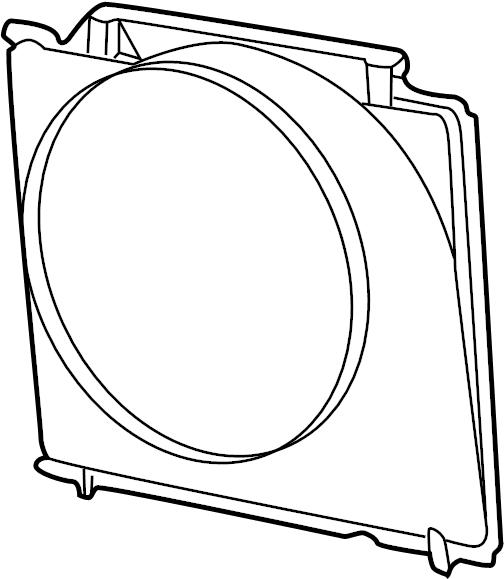 3c3z8146aj - ford fan shroud  shroud  shroud - radiator fa  shroud