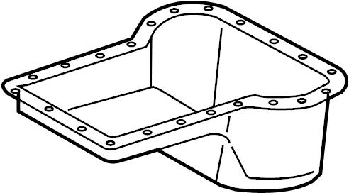 3c3z6675aa Ford Engine Oil Pan Lower Undersize