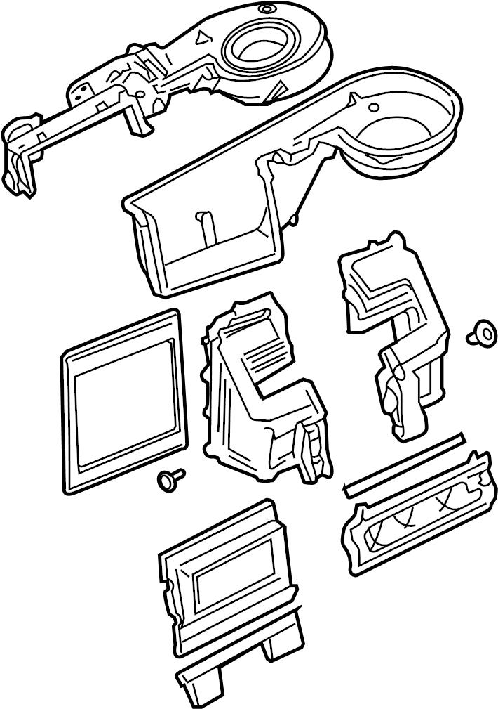 9l2z19850a Ford Evaporator Case Core Dual Zone