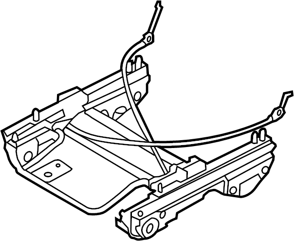 Ford Explorer Seat Track  Rear